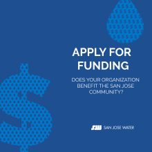 San Jose Water apply for funding banner