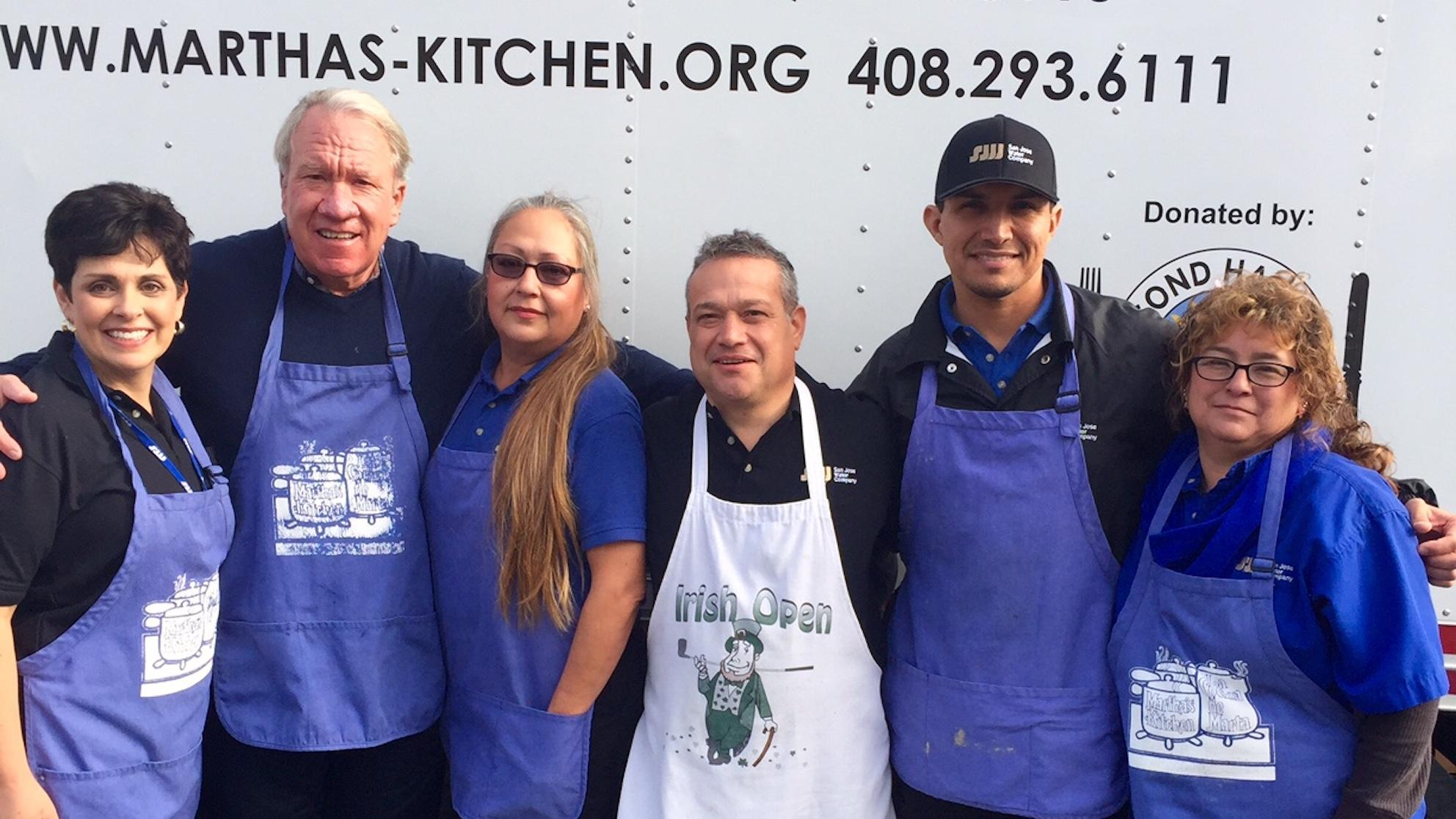 SJW employees in front of Martha's Kitchen truck