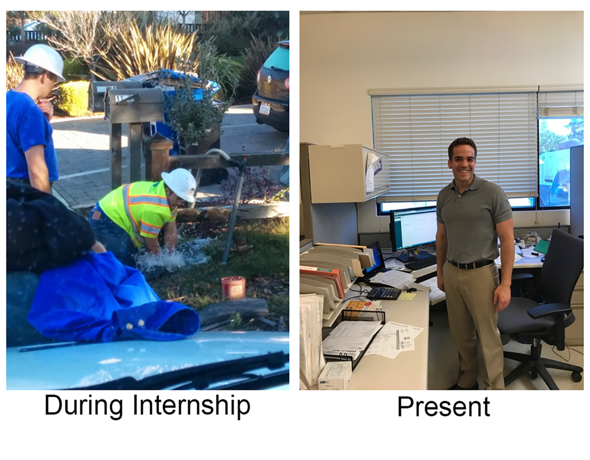 before and after internship