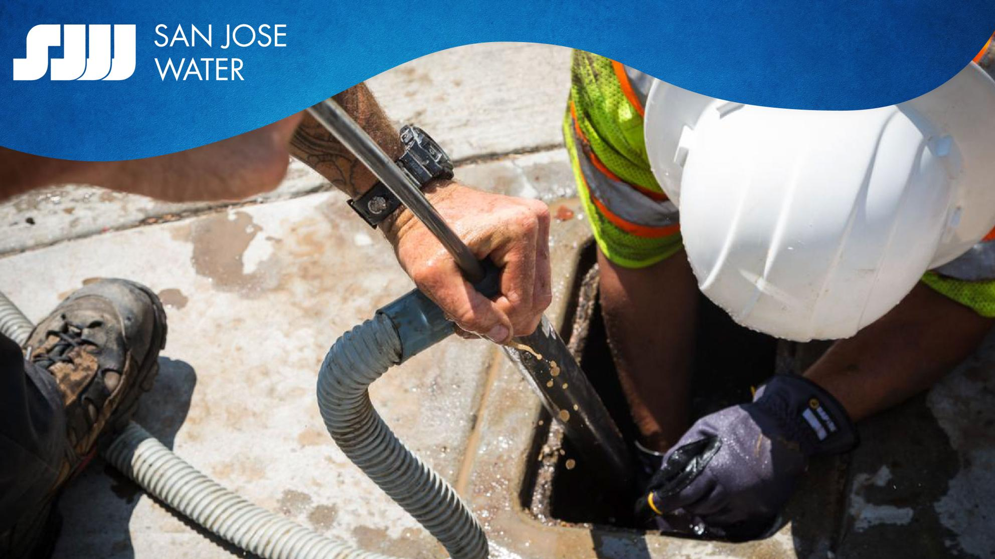San Jose Water logo and water infrastructure work