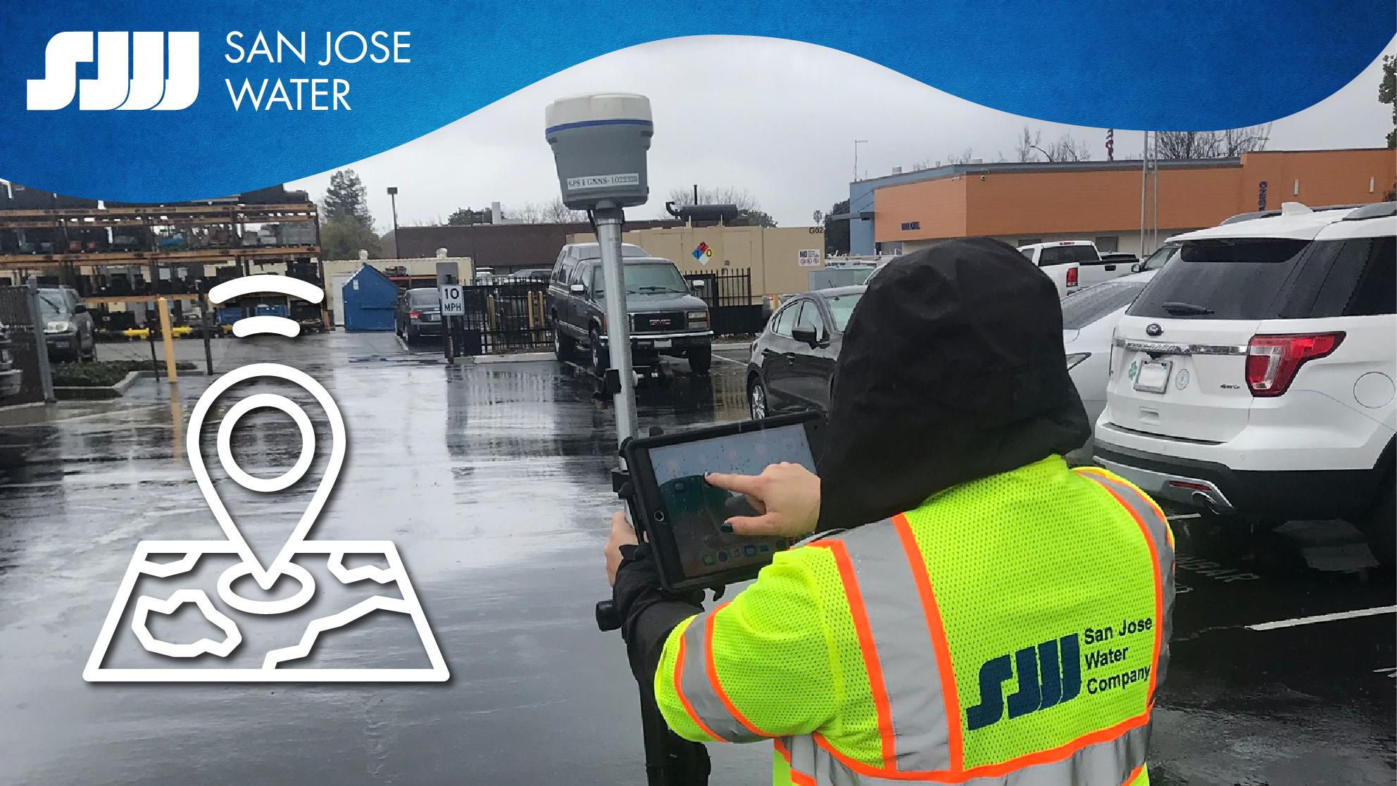 San Jose Water employee using GIS in the field