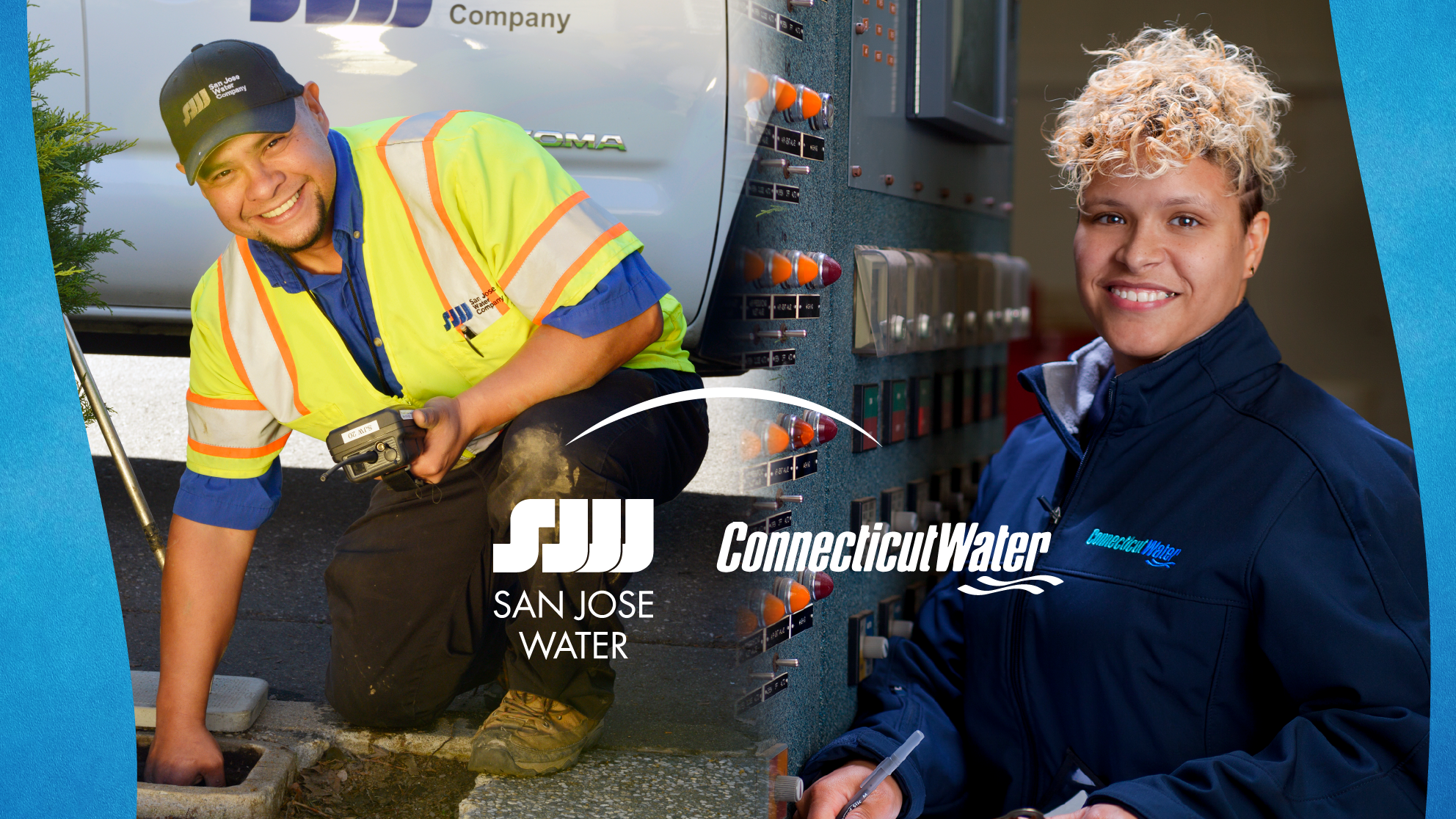 San Jose Water and Connecticut Water employees at work