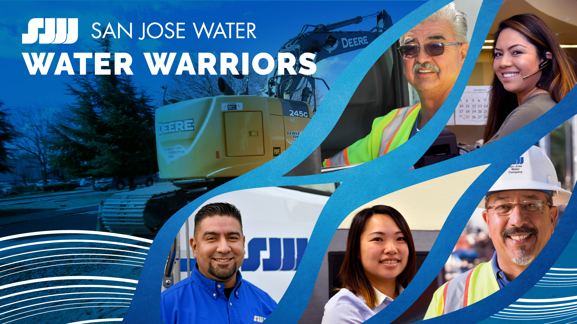 San Jose Water Water Warriors - 5 employees in a collage