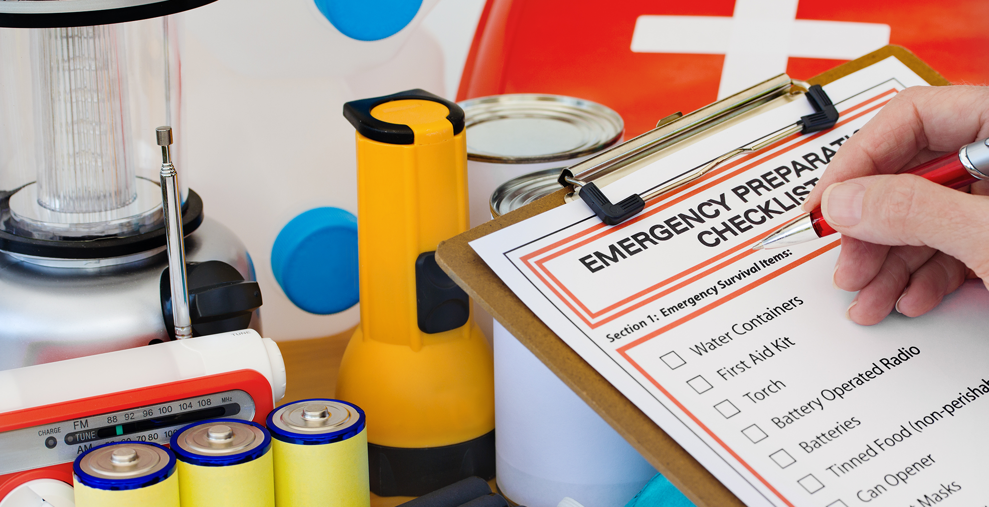 Preparing for emergencies with checklist and supplies