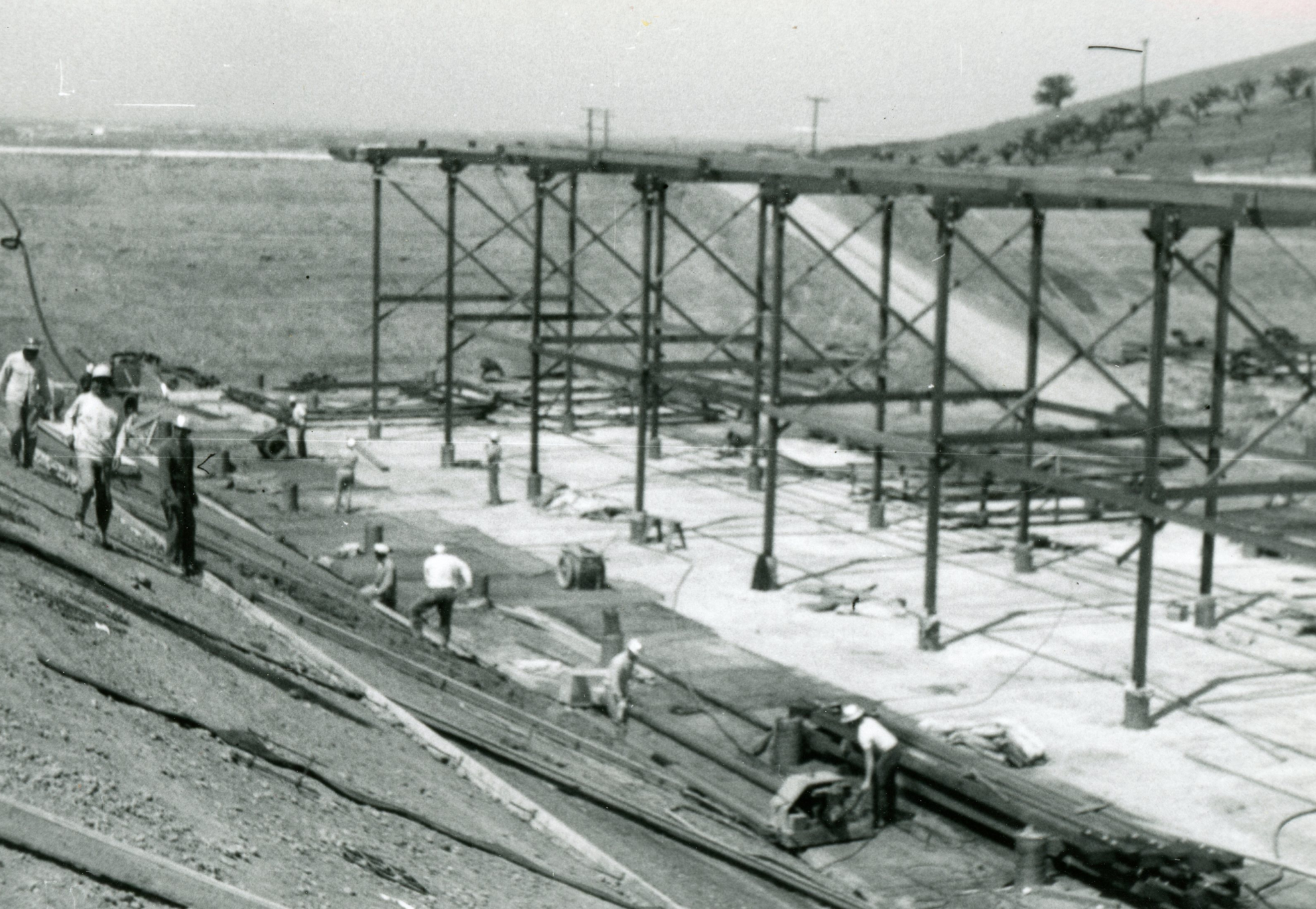 Columbine Historical Image 5 - black and white photo of workers constructing