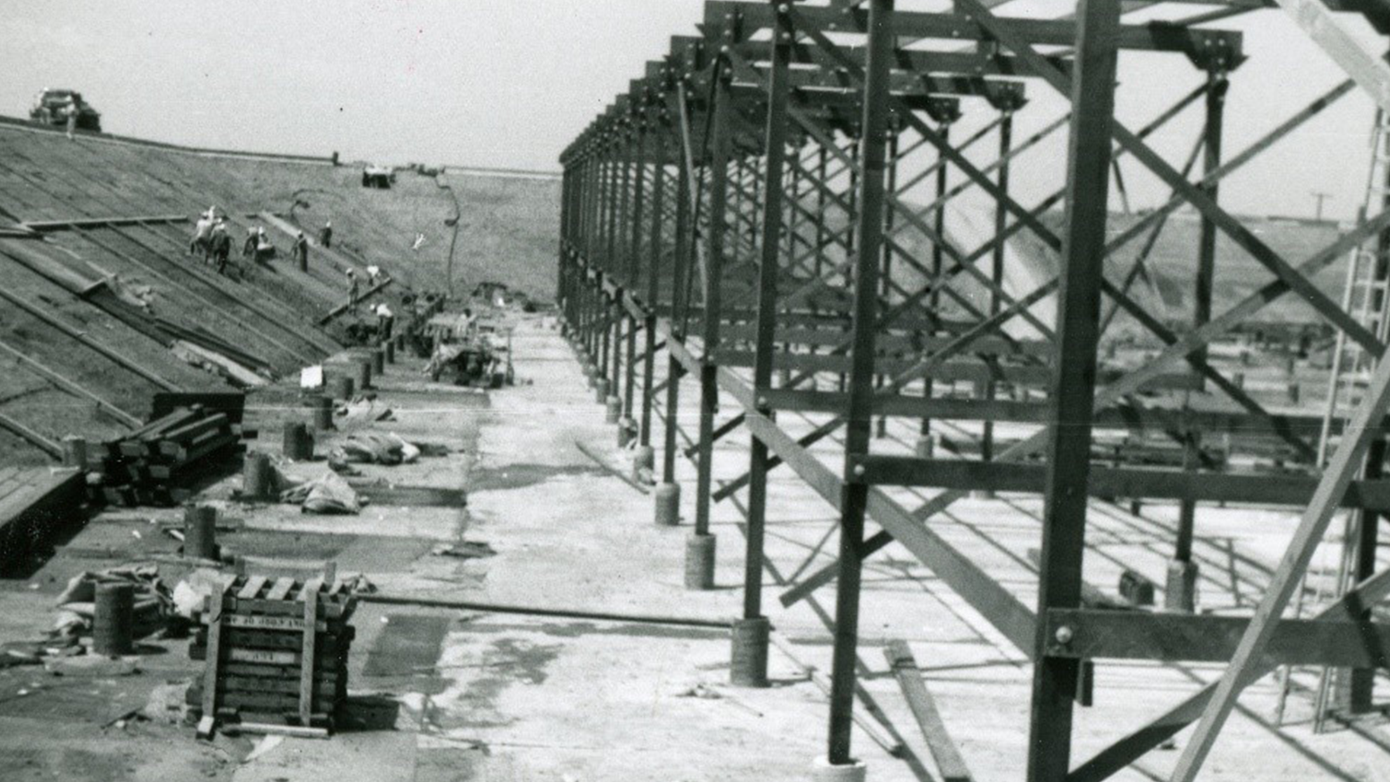 Original construction photo from 1963