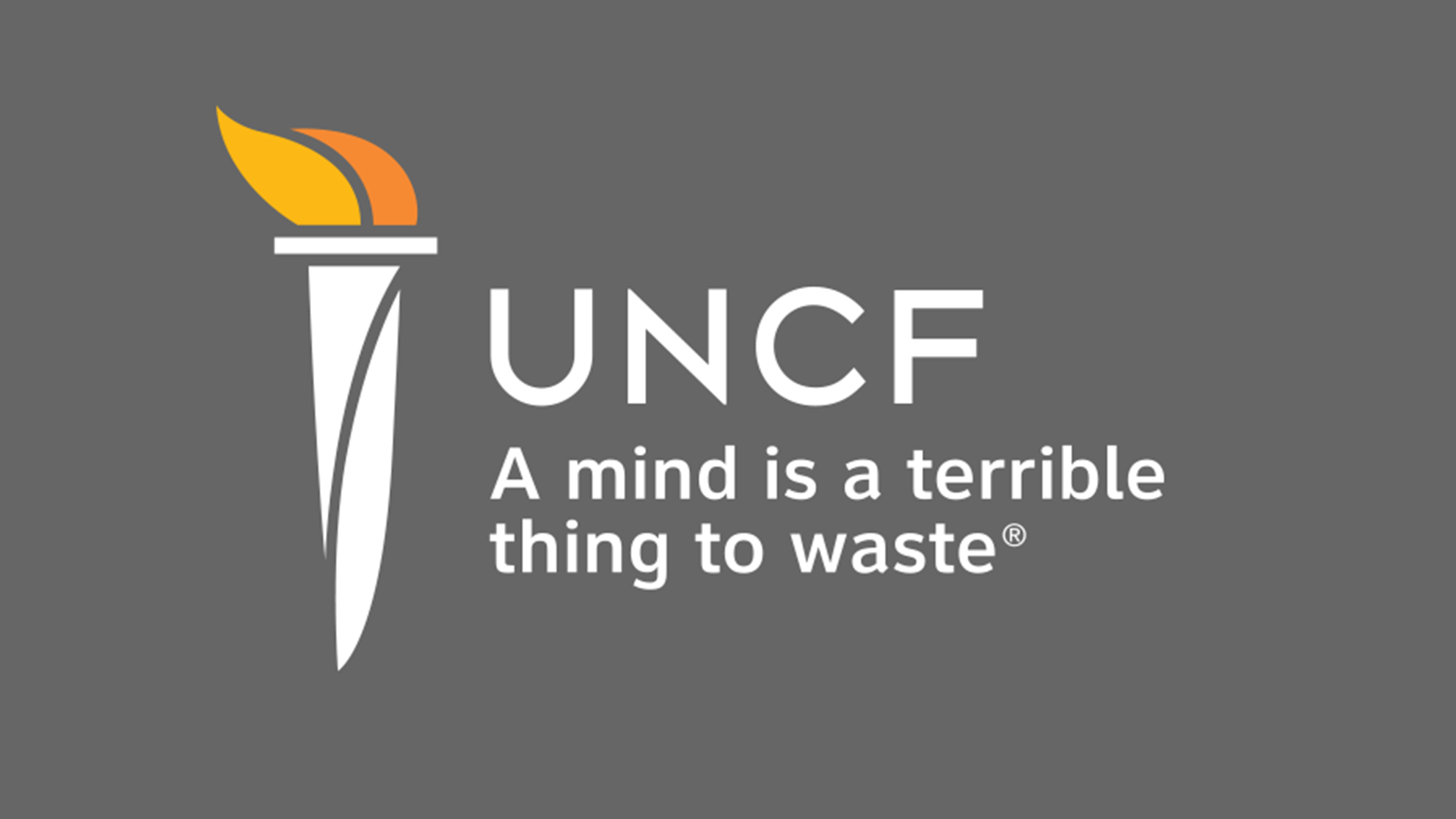 UNCF logo - a mind is a terrible thing to waste