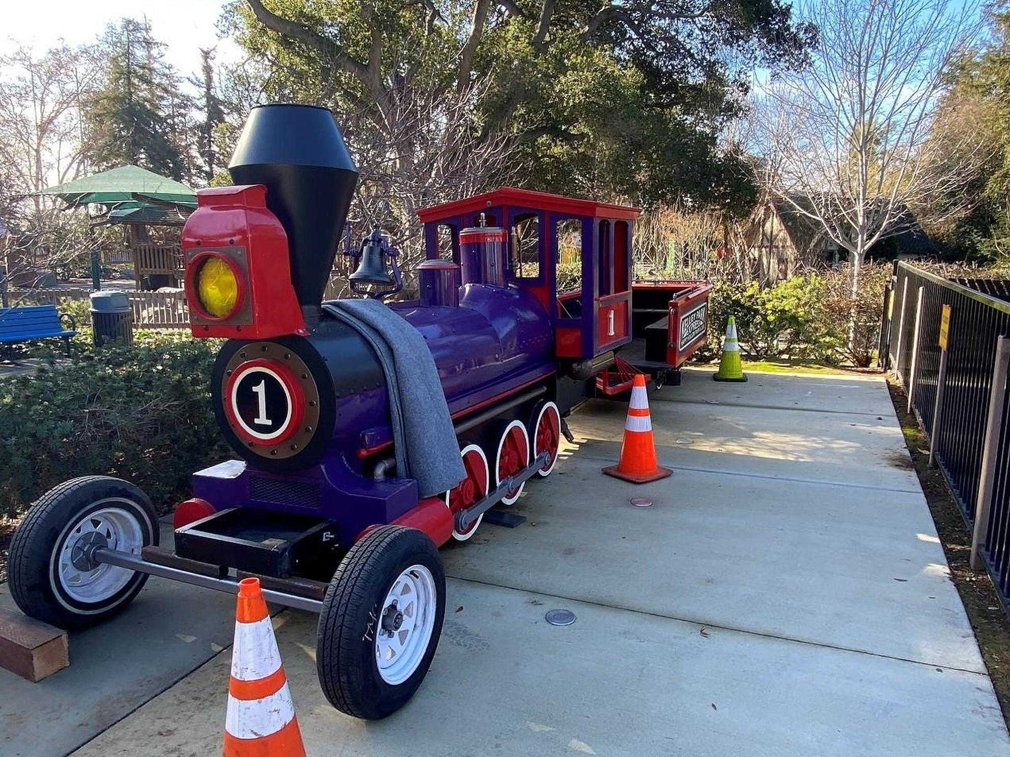 Train ride upgrade at Happy Hollow Park & Zoo